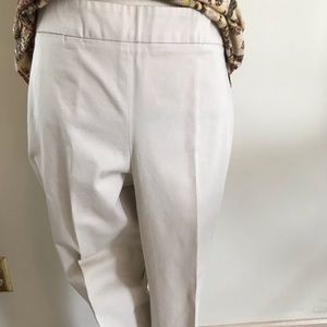 Talbots size 10 cream pants
